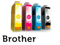 2 sets cartridges voor Brother