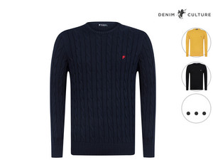 Denim Culture Rundhals-Pullover | Herren