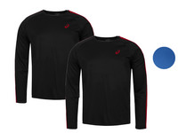 2x Asics Essentials Langarm-Shirt