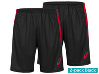 2x Asics Shorts Heren
