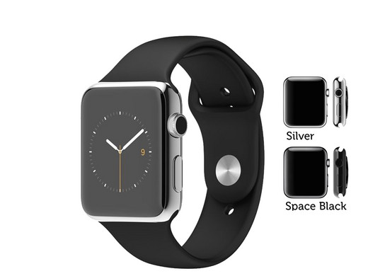 apple watch 42 mm aus edelstahl mit sportarmband wie neu offene verpackung internet 39 s best. Black Bedroom Furniture Sets. Home Design Ideas