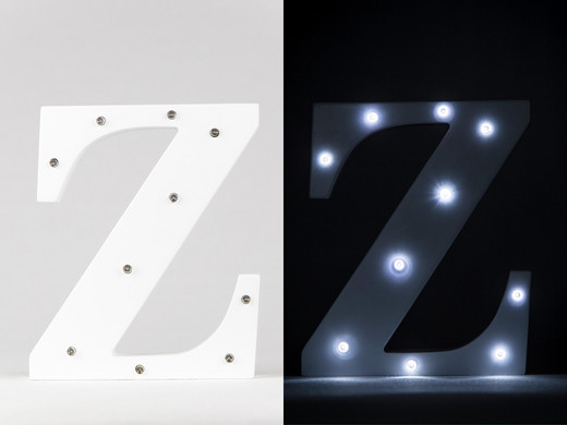 Marquee Letters Verlichting : Letters op canvas woontrendz