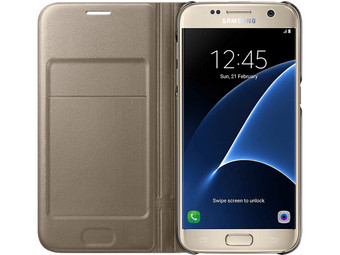 Samsung Galaxy S7 LED View Cover - Gold