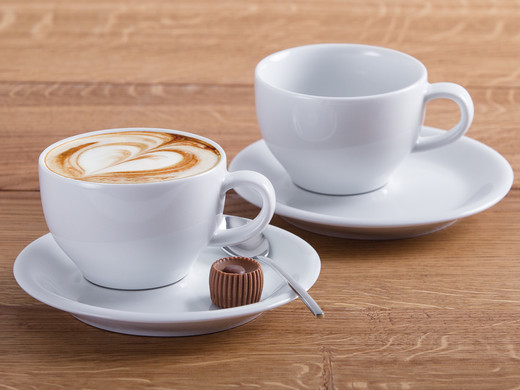 KAHLA Coffee Lovers Cappucino-Tasse & Untertasse| 8er-Set ...