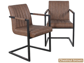 2x industri le swinger stoelen internet 39 s best online for Eettafel stoelen cognac