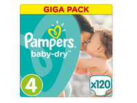 Pampers Baby Dry | Maat 4 | 120 st.