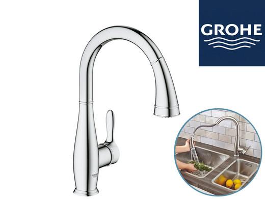 Bevorzugt GROHE Parkfield Küchenarmatur | Ausziehbare Sprühbatterie QZ13