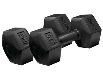2x Iron Gym Hantel Hex