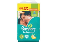 Pampers Baby Dry | Maat 3 | 136 st.