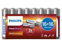 96x Philips Power Alkali-Batterien