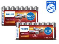64x Philips Power Alkali-Batterien | AA und AAA