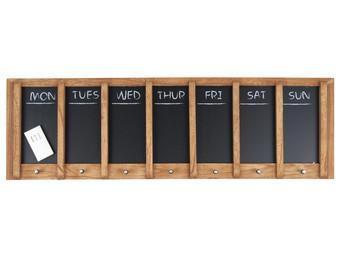 Wochenplaner bestehend aus 7 Tafeln zum Aufh/ängen aus Holz