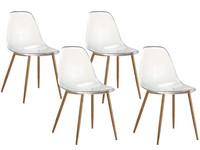 4x Transparente Stühle (Modell DEX)