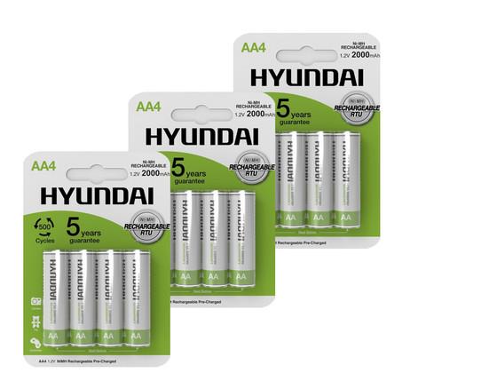 16x Hyundai Oplaadbare AA Batterij