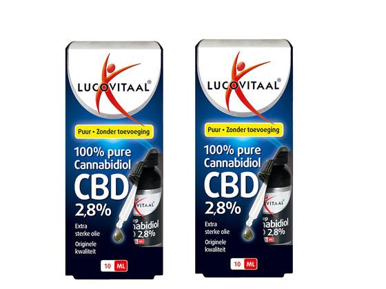 Korting Lucovitaal CBD Olie 2.8 procent   2 x 10 ml