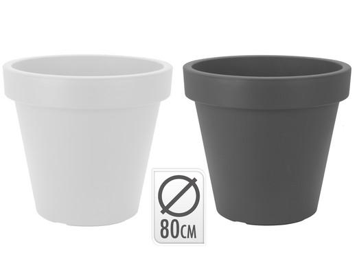 Plastic Bloempot Wit.Bloempot Rond 80 Cm Internet S Best Online Offer Daily Ibood Com