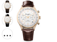 Chrono Rose Gold White Dial