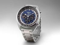 Männer-Armbanduhr aus Edelstahl mit Stoppuhr