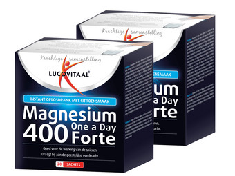 2x magnez 400 Forte Lucovitaal