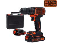 BLACK+DECKER Bohrschrauber + 2x Akkus + Ladegerät
