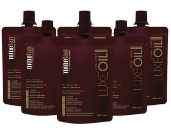 6x spray Minetan Luxe Dark
