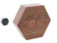 Karlsson Hexagon Alarmklok | Hout