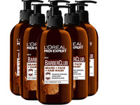 6x L'Oréal BarberClub 3-in-1 Face Wash