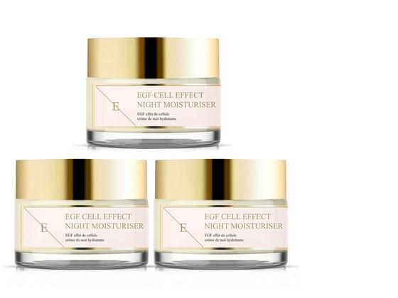Korting 3x Eclat Skin EGF Cell Effect Nachtcrème
