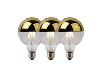 3x Lucide LED Lamp | 5 W | 2700 K | Goud
