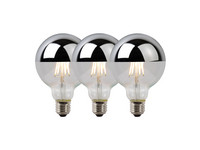 3x Lucide LED Lamp | 5 W | 2700 K | Chroom