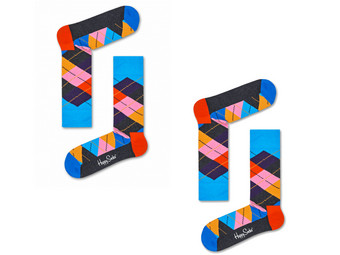 2x Happy Socks | Argyle 41 - 46