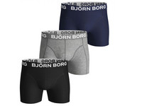 3x Boxershort Solid Black | Heren