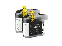 2x Cartridge voor Brother LC-221/223