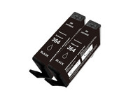 2x Cartridge voor HP 364 XL | Black