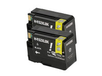2x Cartridge voor HP 932 XL | Black