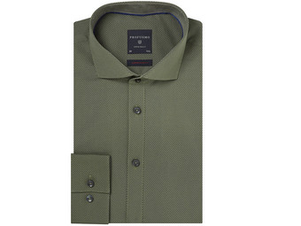 Profuomo Overhemd | Semi Solid Green