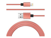 RVS Lightningkabel 2.4 A | MFI | Rose Gold
