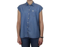 Mouwloos Denim Shirt | Dames