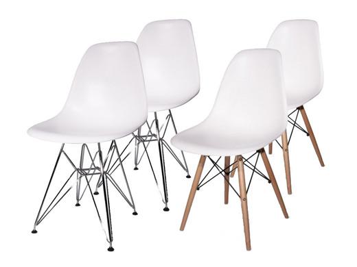 Twee Design Stoelen.Twee Fraaie Witte Designstoelen Hout Chroom Onderstel