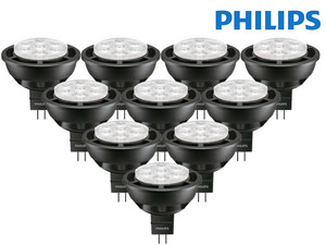 10x Philips LED-Lampe | 2.700 K | dimmbar