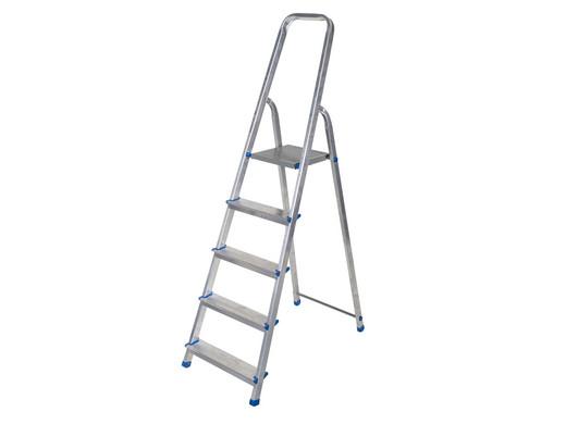 Drabest Aluminium Ladder | 5 Treden | Incl  Tool Tray - Internet's