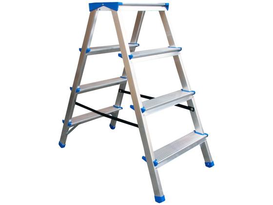 Dubbele Aluminium Ladder   4 Treden