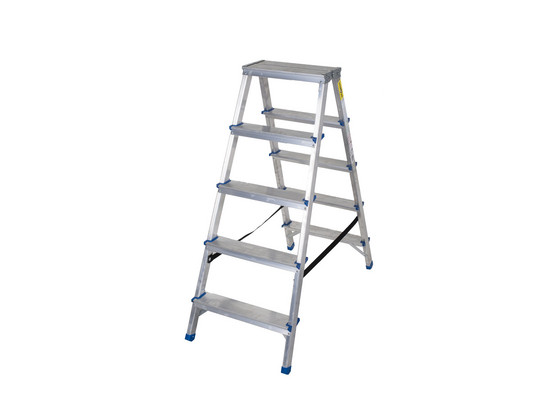 Dubbele Aluminium Ladder   5 Treden