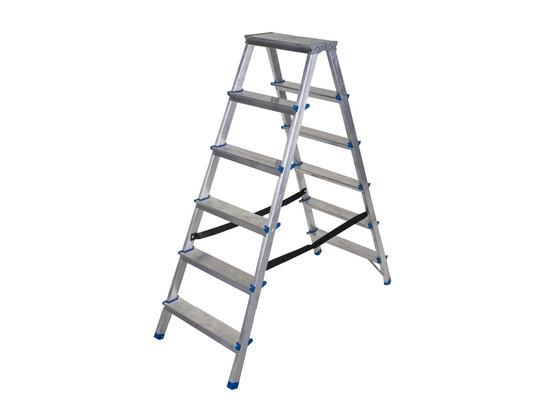 Dubbele Aluminium Ladder   6 Treden