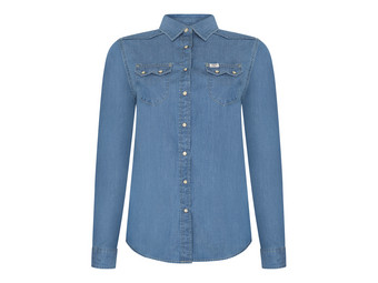 Lee Western Shirt Washed Blue | Dames