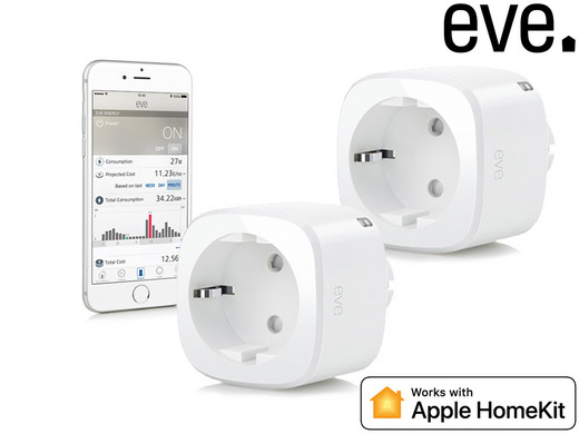 2x Elgato Eve Energy Switch & Power Meter | Official Refurb