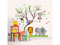 Walplus Muursticker | Animal Forest Tree