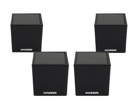 4x Hyundai LED Solar Kubuslicht