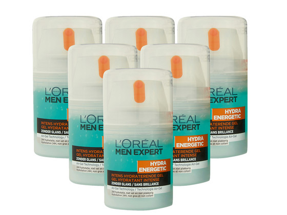 Korting 6x L'Oréal Men Intens Hydraterende Gel