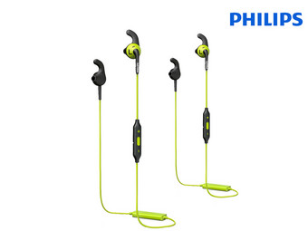 2x Philips Sport In-Ears met Bluetooth